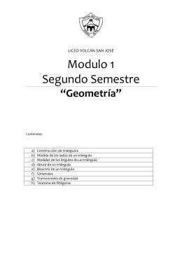 "Modulo 1 Segundo Semestre ""Geometría"""