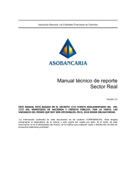 Manual Técnico Sector Real Asobancaria