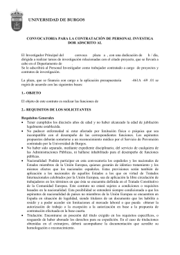 Convocatoria tipo PDI - Universidad de Burgos