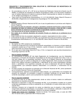 Requisitos para obtencion del CIRA
