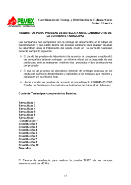 REQUISITOS PRUEBA DE BOTELLA TAMAULIPAS VERSION