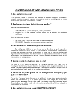 CUESTIONARIO DE INTELIGENCIAS MULTIPLES
