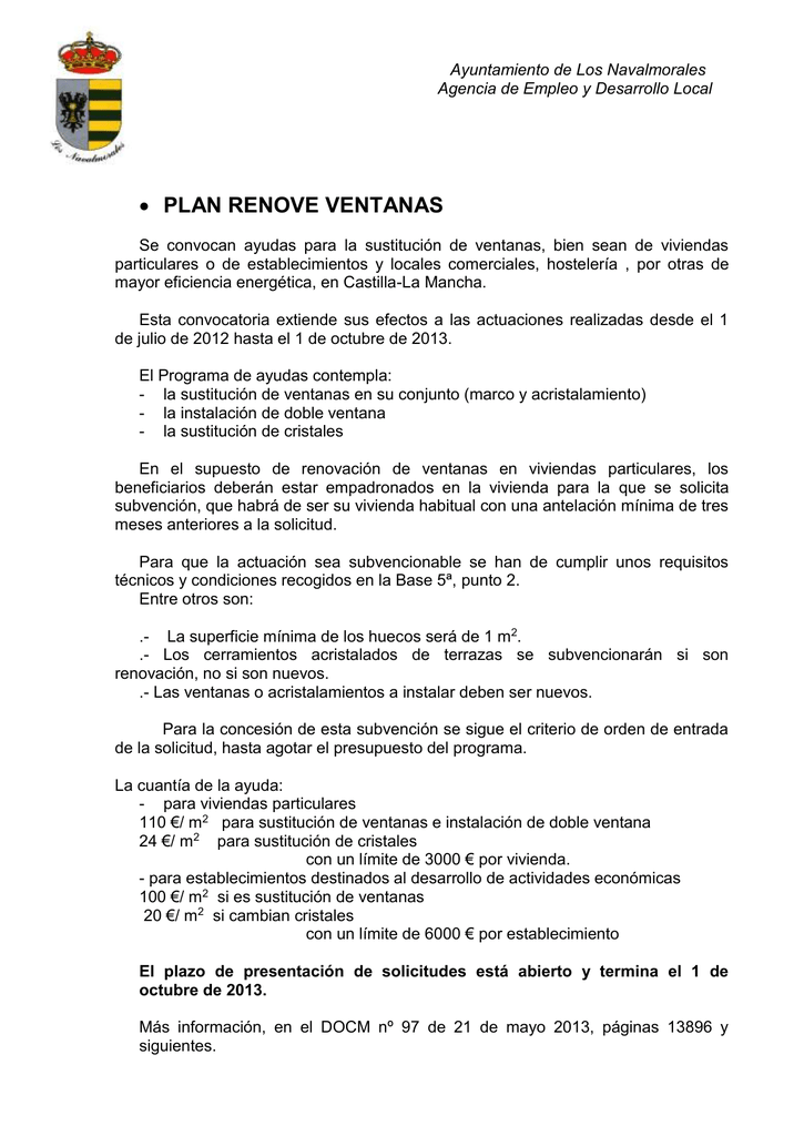 Ayuntamiento De Los Navalmorales Agencia De Empleo Y