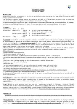 reglamento interno - colegio del prado | 2010