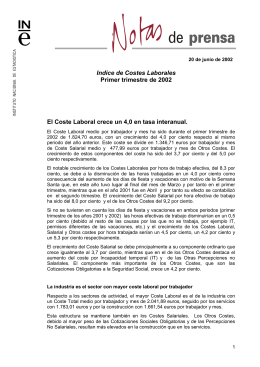 de Costes Laborales - Instituto Nacional de Estadística