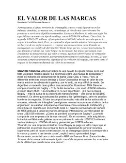 EL VALOR DE LAS MARCAS