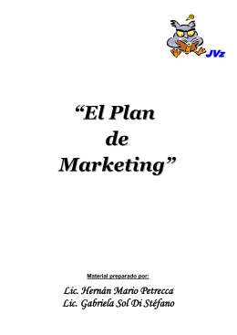 Clase 3 - Plan de Marketing