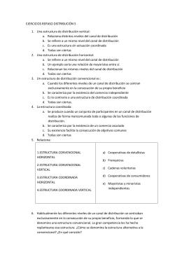 EJERCICIOS REPASO DISTRIBUCIÓN 5 Una estructura de