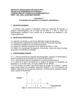 2.2. Reconocer los espectros de señales de radio en frecuencia