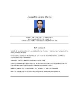 Juan pablo santana Chávez