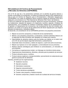 PLAN NACIONAL DE ALIMENTOS PARA TODOS