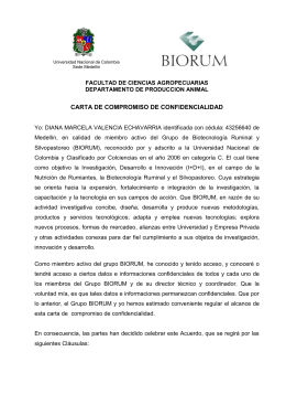 Carta de Confidencialidad - Universidad Nacional de Colombia
