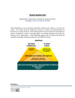 TRADE MARKETING Segmentación, Optimización y Gestión de