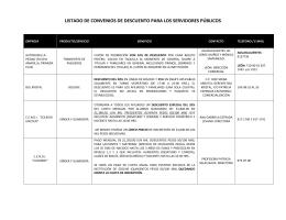 Convenios con el ISSSSPEA - Gobierno de Aguascalientes