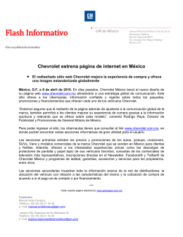 Flash Informativo GM de México