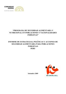 1. estrategia nacional de seguridad alimentaria 2004-2015