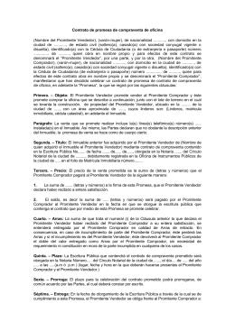 Contrato de promesa de compraventa de oficina for Contrato de arrendamiento de oficina