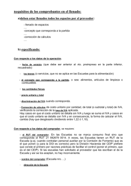 Requisitos Comprobantes 2