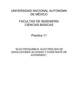 UNIVERSIDAD NACIONAL AUTONOMA DE MÉXICO  FACULTAD DE INGENIERÍA