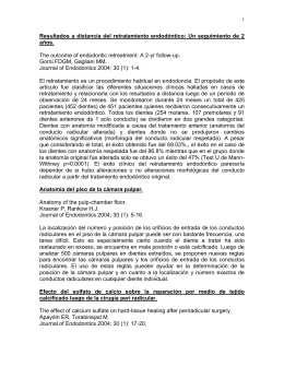 Resúmenes Journal of Endodontics 2004