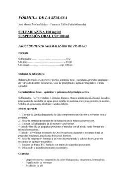 Sulfadiazina 100 mg/ml suspensión oral csp 100 ml