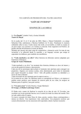 VII CAMPAÑA DE PROMOCIÓN DEL TEATRO AMATEUR