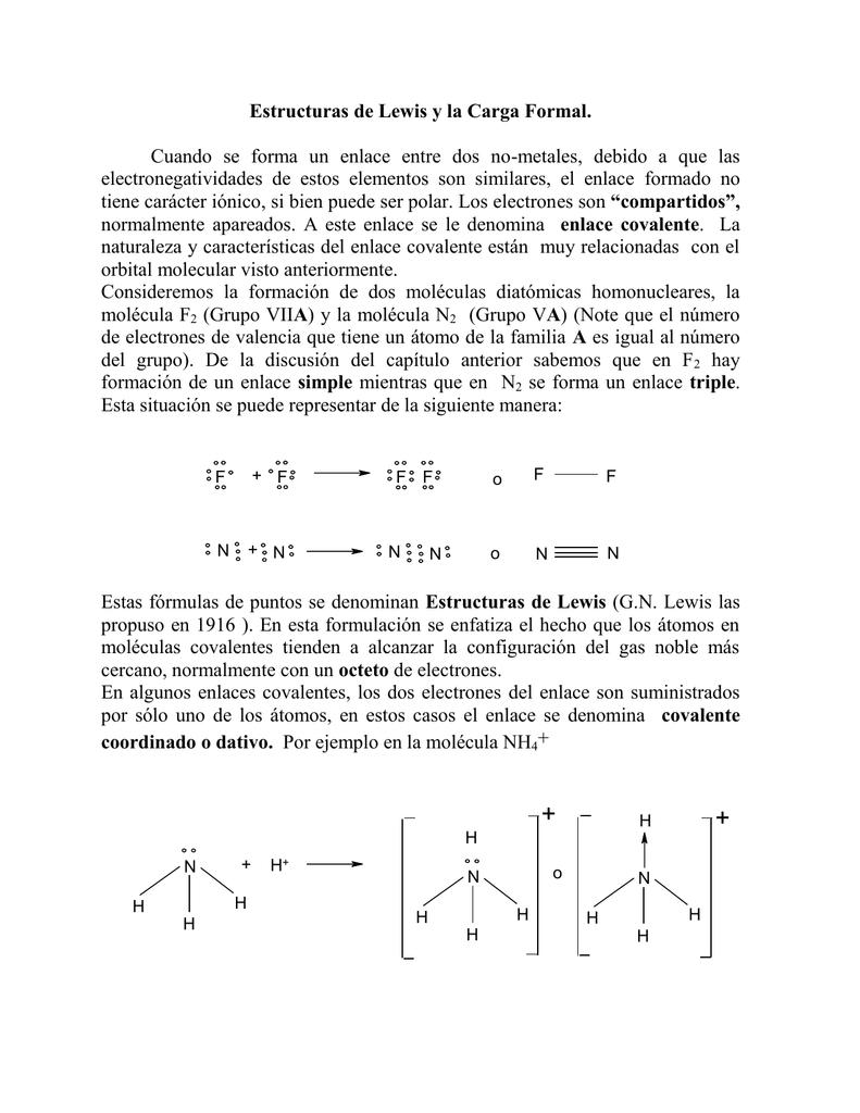 Estructuras De Lewis Y La Carga Formal U