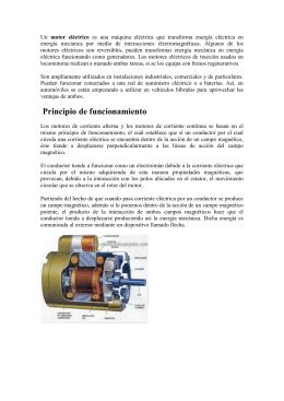 Un motor eléctrico es una máquina eléctrica que