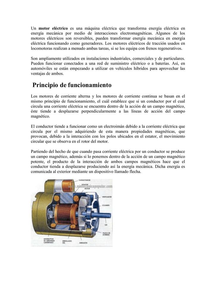 bf6d2b1b406 Un motor eléctrico es una máquina eléctrica que