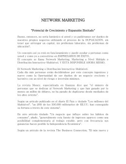 NETWORK MARKETING - SPFV Negocios y Capacitaciones