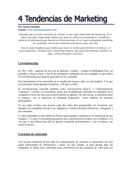 4 Tendencias de Marketing