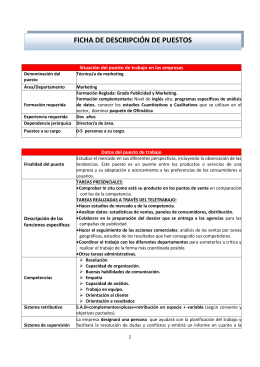 Técnico/a de marketing