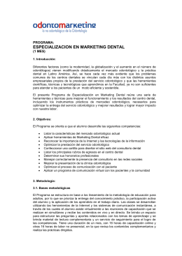 PROGRAMA DE ESPECIALIZACION EN MARKETING DENTAL
