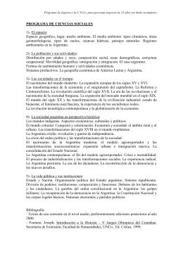 programas de las materias 2016 - Universidad Nacional del Comahue