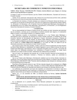 NORMA Oficial Mexicana NOM-058-SCFI-1999, Productos