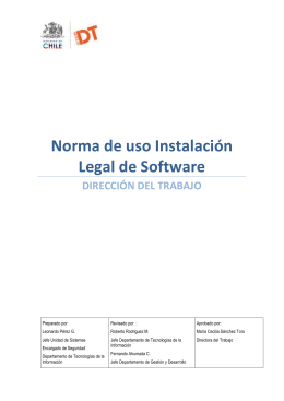 Norma de uso Instalación Legal de Software