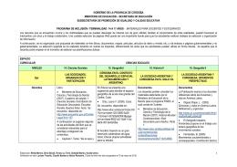 Espacio Curricular /Destinatarios - Subsecretaría de Promoción de