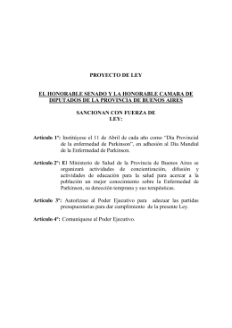 PROYECTO DE LEY  EL HONORABLE SENADO Y LA HONORABLE CAMARA DE