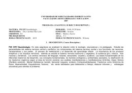 UNIVERSIDAD DE ESPECIALIDADES ESPIRITU SANTO FACULTAD DE ARTES LIBERALES Y EDUCACION 2007
