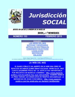 Revista de Jurisdicción Social número 153 del mes de Febrero