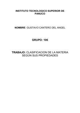 GRUPO: 106 TRABAJO:  INSTITUTO TECNOLOGICO SUPERIOR DE