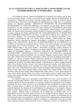 ACTA CONSTITUTIVA DE LA ASOCIACIÓN