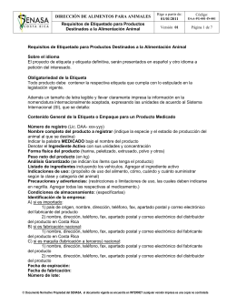 DAA-PG-001-IN-001 Requisitos de Etiquetado para
