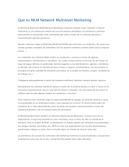 Que es MLM Network Multinivel Marketing