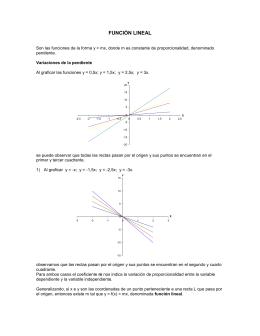 Contenidos y ejercicios psu: funcion lineal