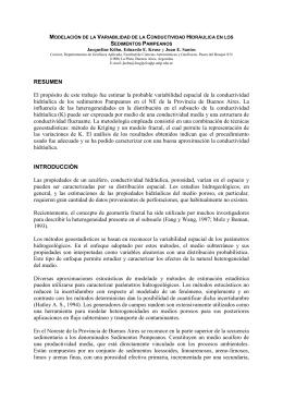 modelación de variabilidad de la conductividad hidráulica en los