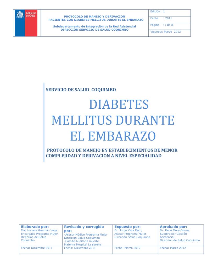 sobre revisiones del programa de protocolo de diabetes