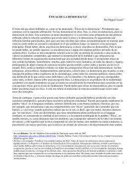 ÉTICAS DE LA DEMOCRACIA - Universidad Pontificia Bolivariana