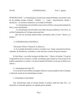 14. Antropología - Ancla de Salvación