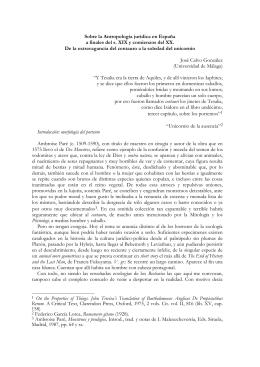 Sobre antropología jurídica a finales del s. XIX y comienzos del s. XX